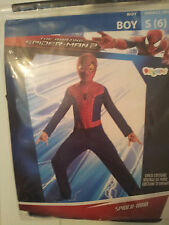 Child-Size-Small-6-Spiderman-Movie-2-Jumpsuit-&-Character-Hood-Disquise-Marvel
