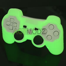Wow! Glow in the Dark! 2 Pcs Silicone Rubber Skin for Playstation PS3 Controller