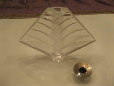 "Lalique Crystal ""Palm Tree"" Candleholder ""Ravelana"" discontinued STUNNING"