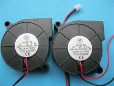 1 pcs Brushless DC Cooling Blower Fan 5015B 12V 50x50x15mm 2 Wires/Pins Black
