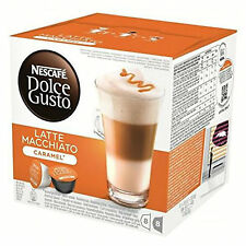 Dolce Gusto Latte Machiato Caramel Coffee 6 Boxes,Total 96 Capsules 48 Servings