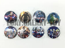The Avengers 2 4.3 CM 8x LOTS PIN back BADGES BUTTONS PARTY BAG GIFT CLOTH