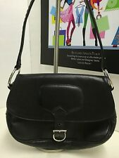 STUART WEITZMAN BLACK LEATHER SHOULDER HANDBAG MADE IN SPAIN