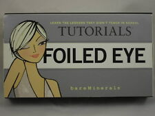 FOILED EYE TUTORIALS by BAREMINERALS - W/2 EYE COLORS & DOUBLE-ENDED BRUSH!