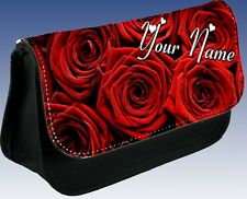 MOTHERS DAY Nan Personalised Red Roses Flower Pencil Case MAKE UP BAG Gift