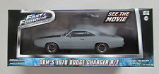 GREENLIGHT FAST & FURIOUS 1:43 DOM'S 1970 DODGE CHARGER R/T