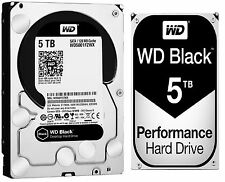 Western Digital 5TB BLACK Performance Hard Drive WD 7200 RPM SATA WD5001FZW