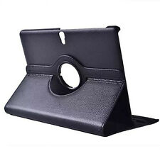 """E7 Black Leather Rotate Case Holder Cover For Samsung Galaxy Tab S 10.5"""" Tablet"""
