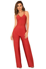 """HOUSE OF CB 'Devi' Red Strappy Bandage Jumpsuit """"Faulty"""" MM 8592"""
