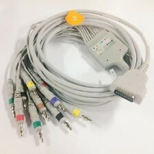 10 Lead ECG EKG Cable with Leadwire for GE Marquette  Banana 4.0 IEC