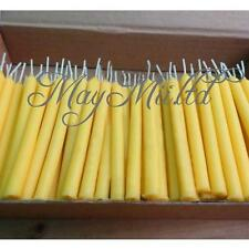 10pcs Hand Poured 12cm Round 100% Natural Beeswax Taper Candles,Cotton Wicks X