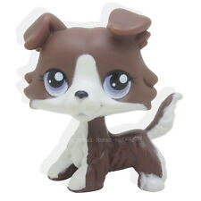 Littlest Pet Shop Rare Brown Collie Dog with purple eyes Puzzle #NO Loose LPS