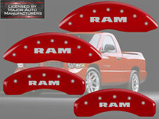 "2002-2005 Dodge ""Ram"" 1500 Front + Rear Red MGP Brake Disc Caliper Covers"