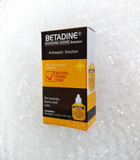 BETADINE POVIDONE IODINE FIRST AID SOLUTION ANTISEPTIC CUTS WOUNDS 15 cc.