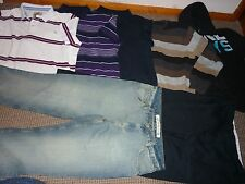 "Bundle Mens Clothes 38"" Waist Jeans Trousers & XXL Tops Hoodie Henleys Easy M&S"