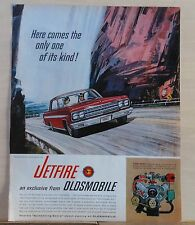 1963  magazine ad for Oldsmobile - Jetfire with Turbo-Rocket V-8 engine