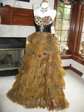 Party Time 6703 Black Brown Leopard Ball Gown 4