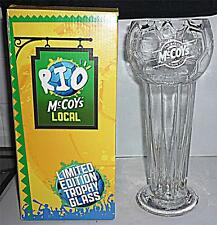 LARGE LTD EDT ADVERTISING KP McCOYS CRISPS RIO BRAZIL FOOTBALL DRINKS GLASS 27cm