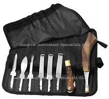 Farrier Hoof Knife Kit Set Roll UP Wallet Premium Range Farrier Hoof Tools NEW