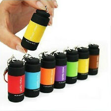 LED Torch Lamp Pocket USB Rechargeable Mini Keychain Keyring Camping Flashlight