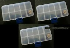 3 Bead storage fishing sew craft bead containers 10 storage slots each cr006b