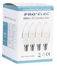 Pro Elec - PEL00166 - E14 Clear Led Candle Bulb, 5w 3000k (4 Pack)
