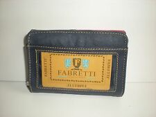 FABRETTI LEATHER MULTI-COLOURED ZIP TOP, FRONT FLAP AND REAR WINDOW PURSE 50738