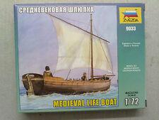 Zvezda 9033 Medieval Life Boat 1:72 Neu, nicht eingetütet