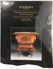 Sotheby's NY Important English Furniture & Decorations Auction Catalog 1/21/1995