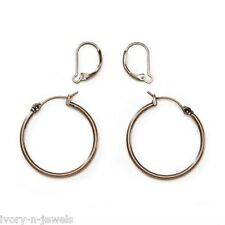 """Antique Copper 1 1/4"""" Hoops and INTERCHANGEABLE Lever Back Earrings SET"""