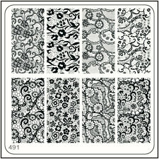 MoYou Nail Fashion Square Image Plate 491 Vintage Style Art Stamping Template