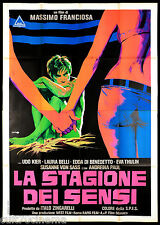 LA STAGIONE DEI SENSI MANIFESTO CINEMA LAURA BELLI SADISMO 1968 MOVIE POSTER 4F