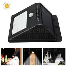 6 LED Solar PIR Inalámbrico Lámpara Sensor Movimiento/Luz Escalera Pared Patio