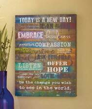 Today Is a New Day Wall Art Indoor Decor Sign Plaque Ready To Hang Picture New