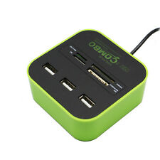 Mini 3 Port USB Hub 2.0 with Multi Function Card Reader for SD/TF/MMC/M2/MS/MP