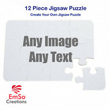 Personalised 12 piece A4* Jigsaw Puzzle Any Photo Image Text Xmas Birthday Trave