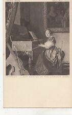 BF33579 vermeer lady seated at the virfinals  painting  art front/back image