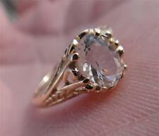 Genuine 1.2 Carat Herkimer Diamond set in a PURE 14K YELLOW GOLD RING (Size 7)