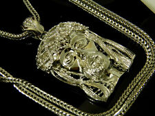 Hip Hop Franco Chain Silver Crystals Iced Out Jesus Piece Pendant New Style