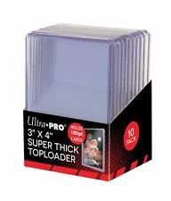 (10) Ultra Pro Super Thick 180pt Toploader Card Holders Jersey Memorabilia Patch