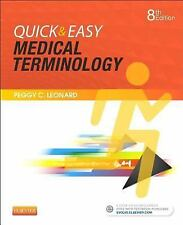 Quick and Easy Medical Terminology by Peggy C. Leonard (2016, Spiral) 8e NEW