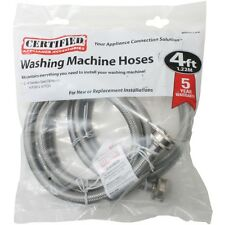 NEW Certified Appliance Wm48ss2pk Braided Stainless Steel Washing Machine Hose&#