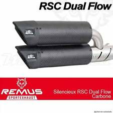 Paire de silencieux Remus RSC Dual Flow Carbone sans cat Vespa GTS 300 i e 2008+