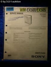 Sony Service Manual WM EX500 /EX505 Cassette Player (#6446)