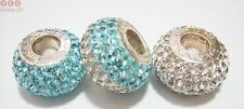 Véritable argent sterling 925 Turquoise shamballa Sparkle Charme Perles Rhona Sutton