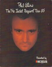 Phill Collins The No Jacket Required Tour 1985 Program VG 042816DBE