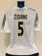 Real Madrid ZIDANE 04/05 Signed Home Football Shirt (XL) Soccer Jersey