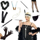 FLAPPER CHARLESTON BLACK 1920S 20S LADIES FANCY DRESS COSTUME ACCESSORIES