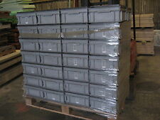 pallet lot 56 number plastic euro stackable containers boxes crates inc lids