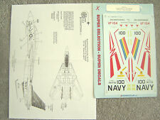 "F-14A TOMCAT ""VF-154/DESERT STORM/BLACK KNIGHTS"" MICROSCALE DECALS 1/32"